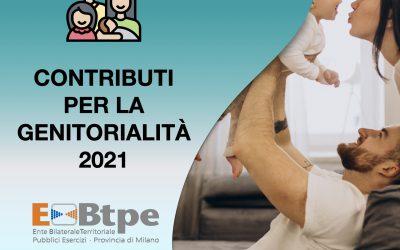 Contributo per la genitorialità 2021